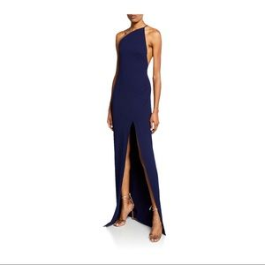 Solace London Petch Dress in Navy